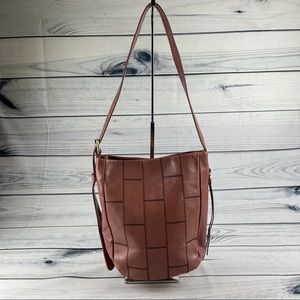 Hobo Kharma Patchwork Calfskin Leather Bucket Bag